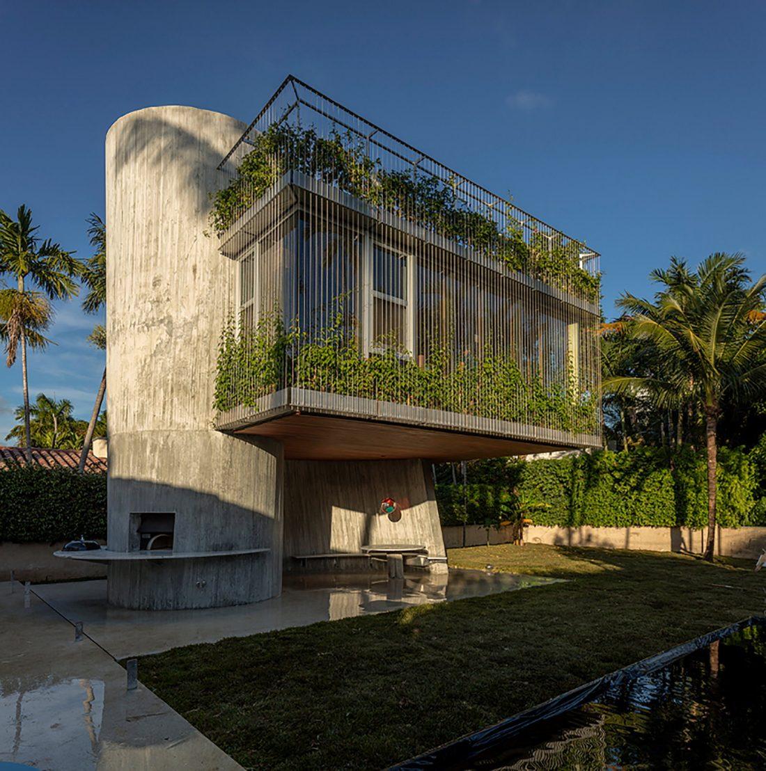 Дом Sun Path House в солнечном Майами Бич, США по проекту Christian Wassmann 1