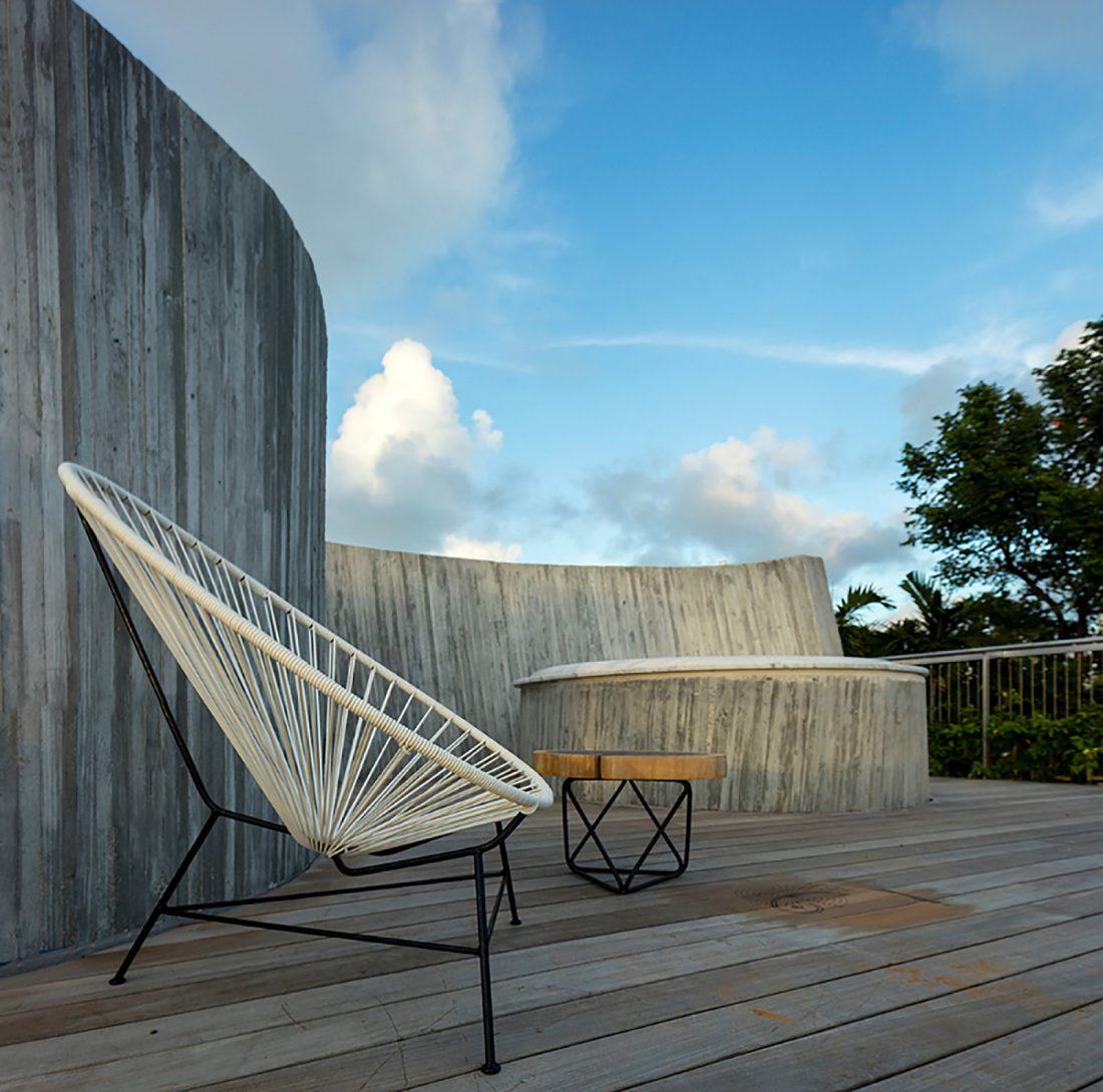 Дом Sun Path House в солнечном Майами Бич, США по проекту Christian Wassmann 12