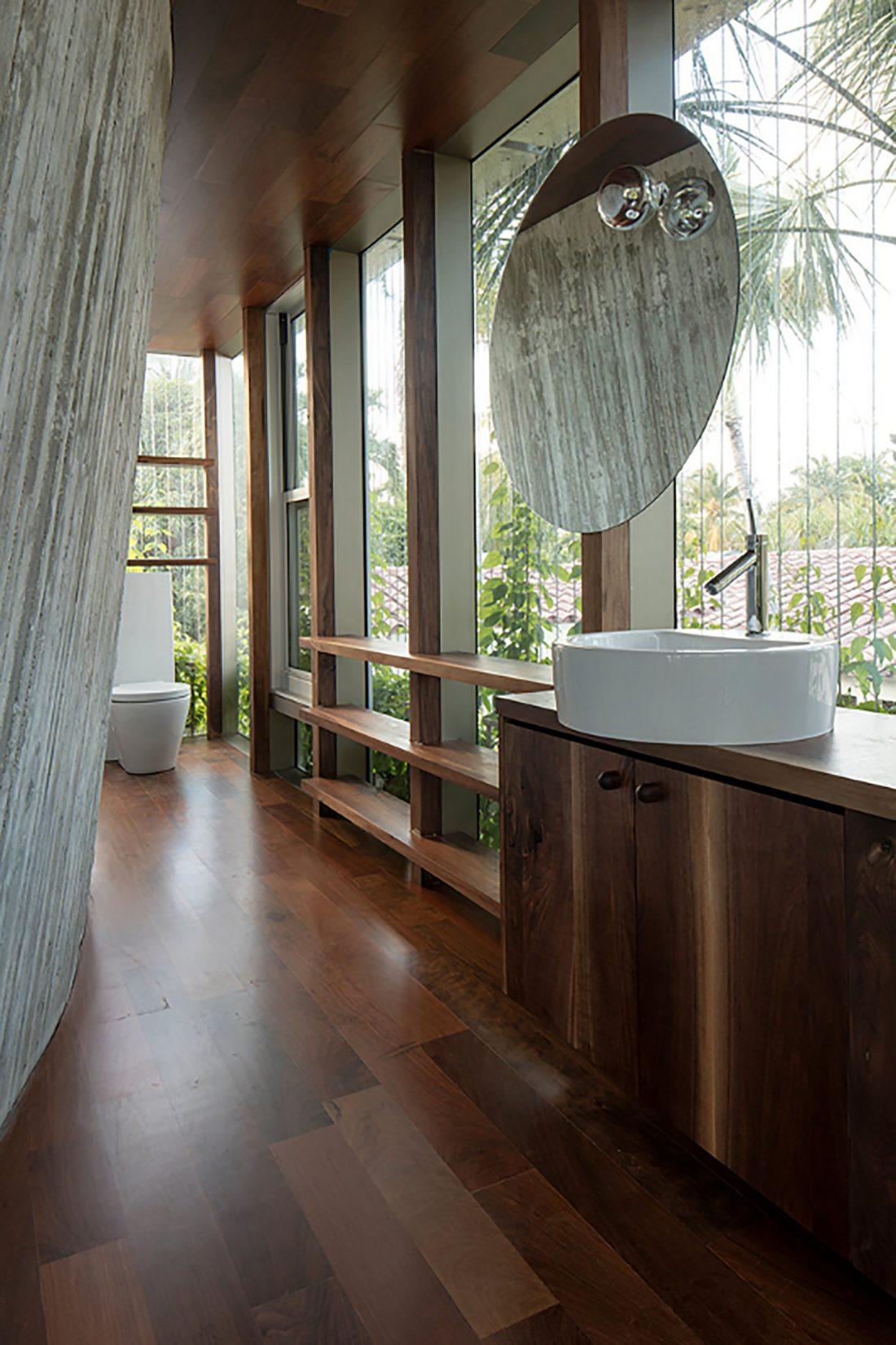 Дом Sun Path House в солнечном Майами Бич, США по проекту Christian Wassmann 14