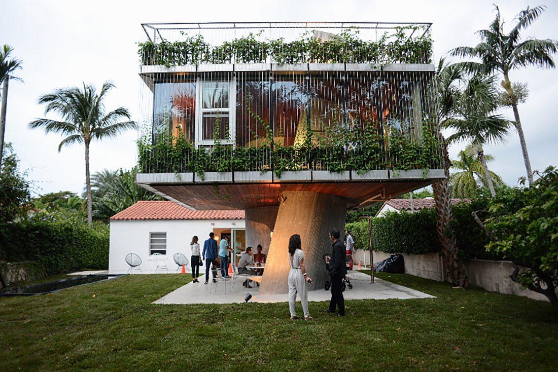 Дом Sun Path House в солнечном Майами Бич, США по проекту Christian Wassmann 2