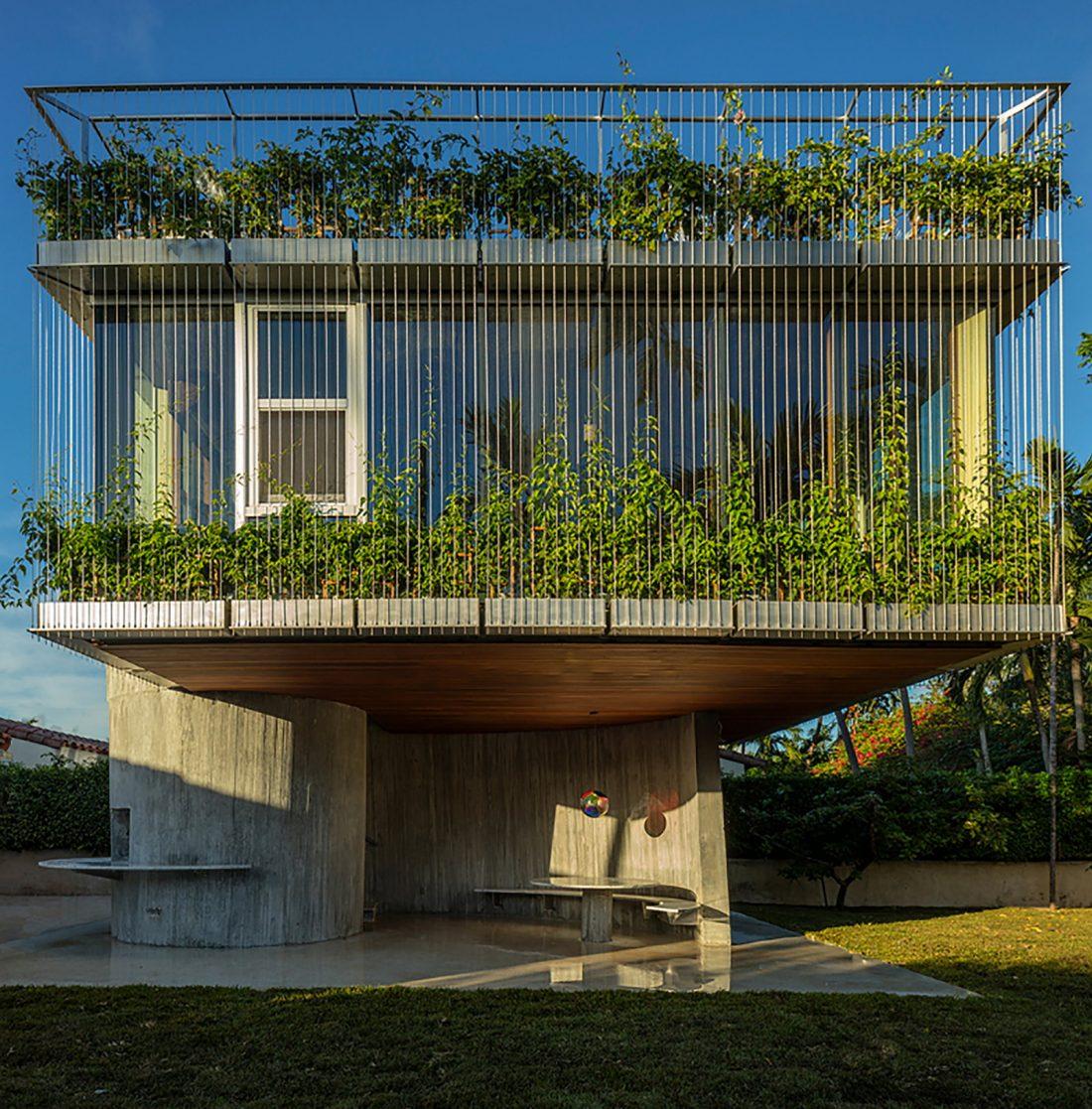 Дом Sun Path House в солнечном Майами Бич, США по проекту Christian Wassmann 4
