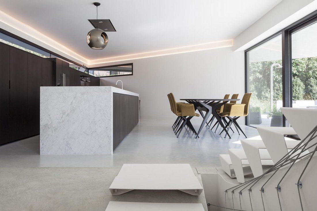 Футуристический дизайн виллы MQ в Бельгии от архитектурной студии Office O 16