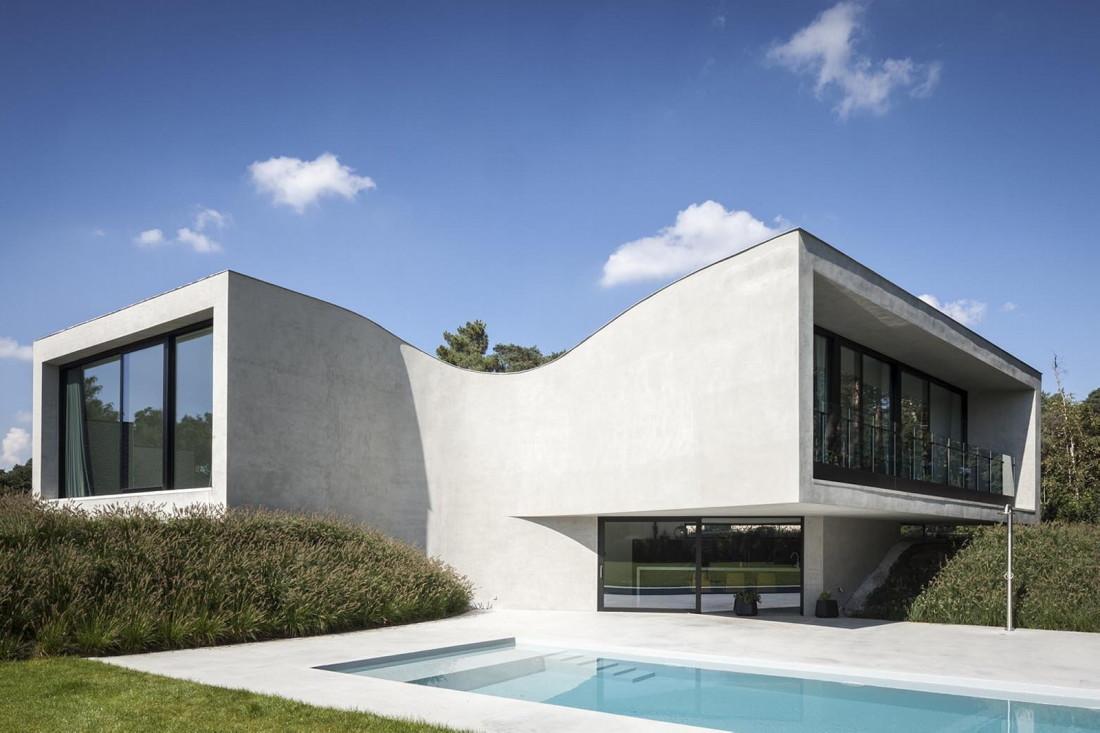 Футуристический дизайн виллы MQ в Бельгии от архитектурной студии Office O 4