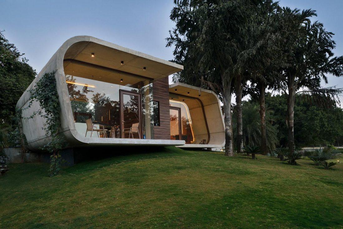 Необычный дом Pool House в Индии от студии 42mm Architecture 1