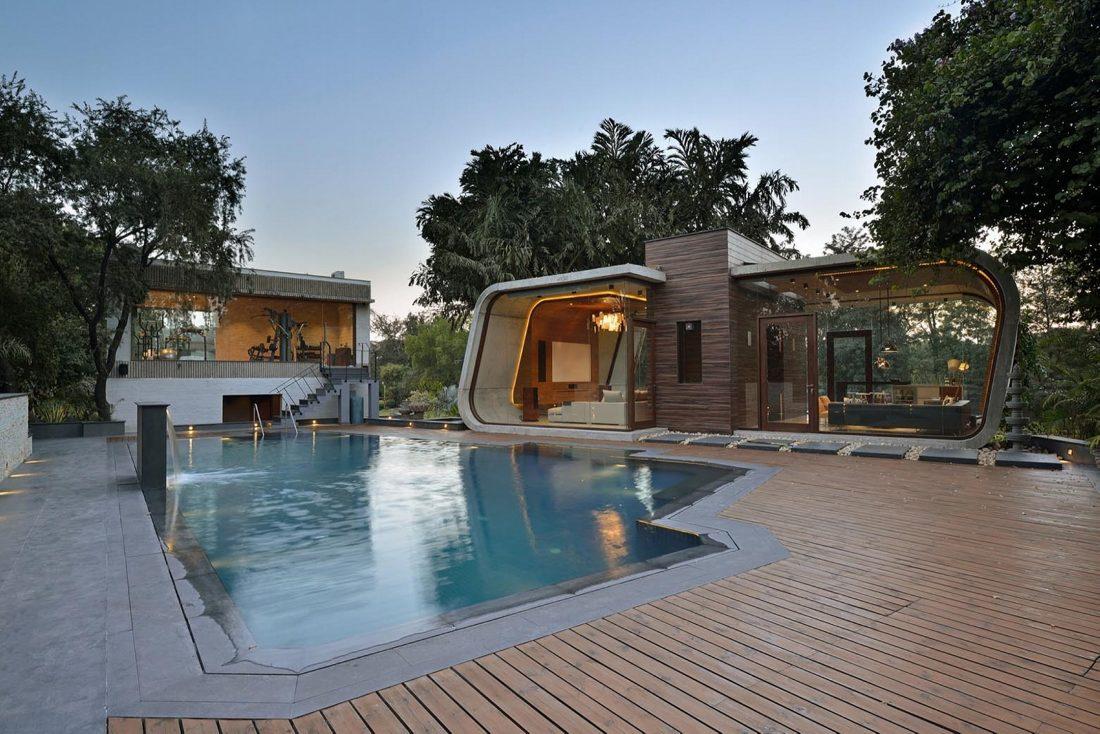 Необычный дом Pool House в Индии от студии 42mm Architecture 10