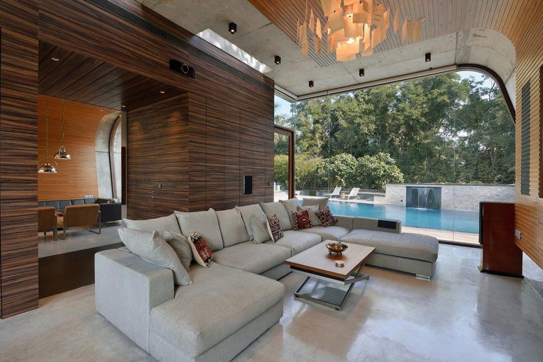Необычный дом Pool House в Индии от студии 42mm Architecture 13