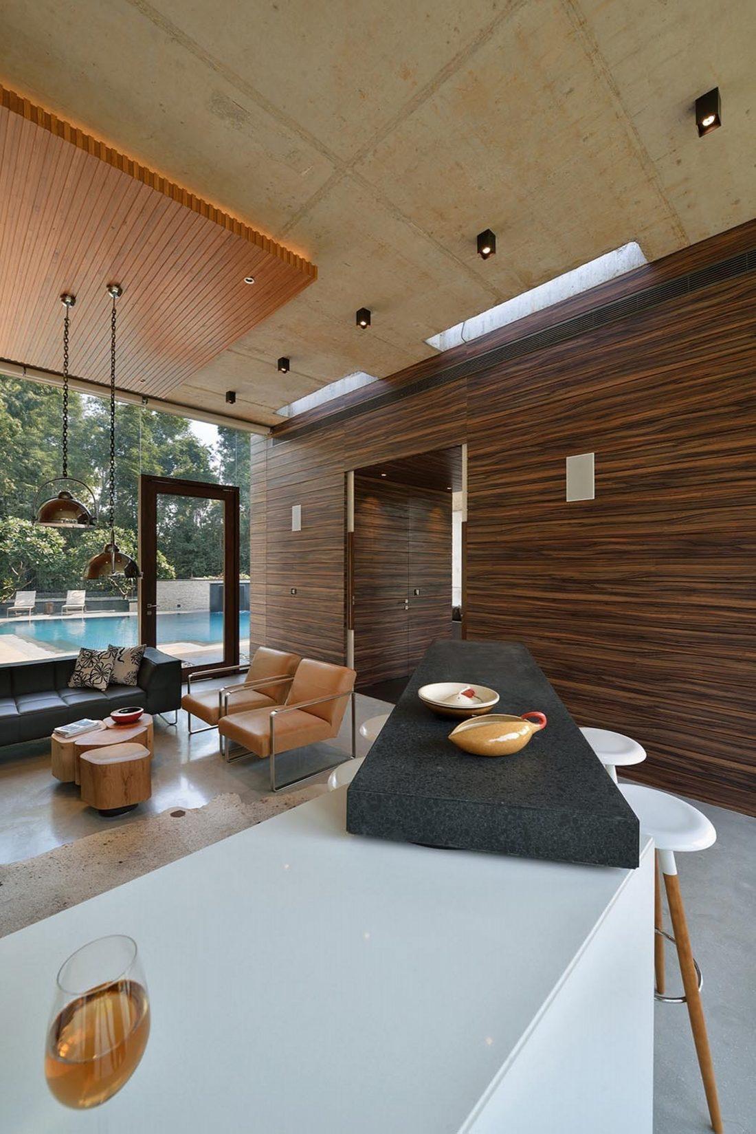 Необычный дом Pool House в Индии от студии 42mm Architecture 14