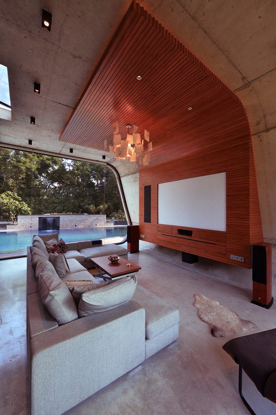 Необычный дом Pool House в Индии от студии 42mm Architecture 15