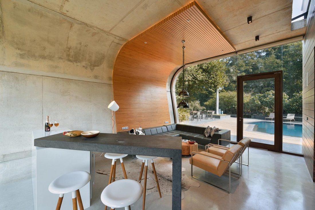 Необычный дом Pool House в Индии от студии 42mm Architecture 17