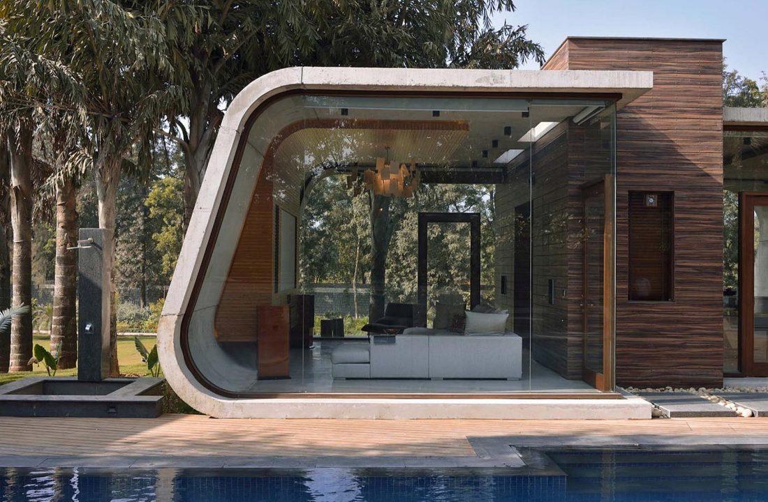 Необычный дом Pool House в Индии от студии 42mm Architecture 4