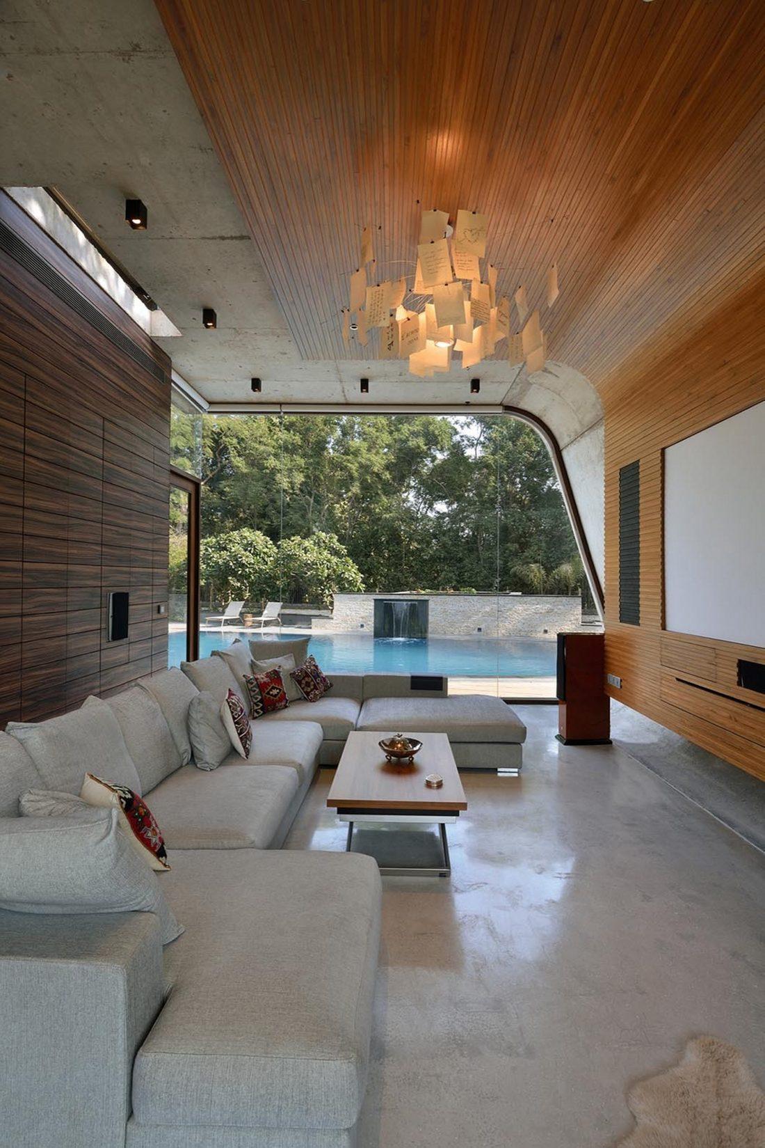 Необычный дом Pool House в Индии от студии 42mm Architecture 5