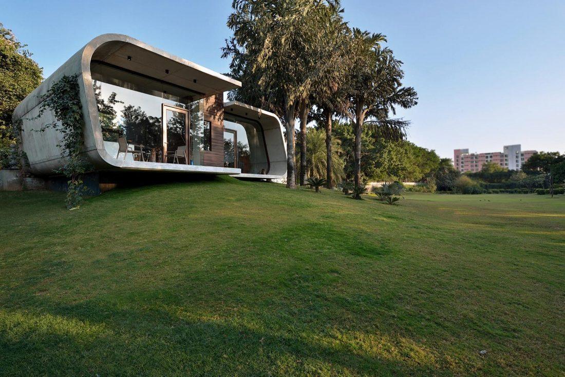 Необычный дом Pool House в Индии от студии 42mm Architecture 6