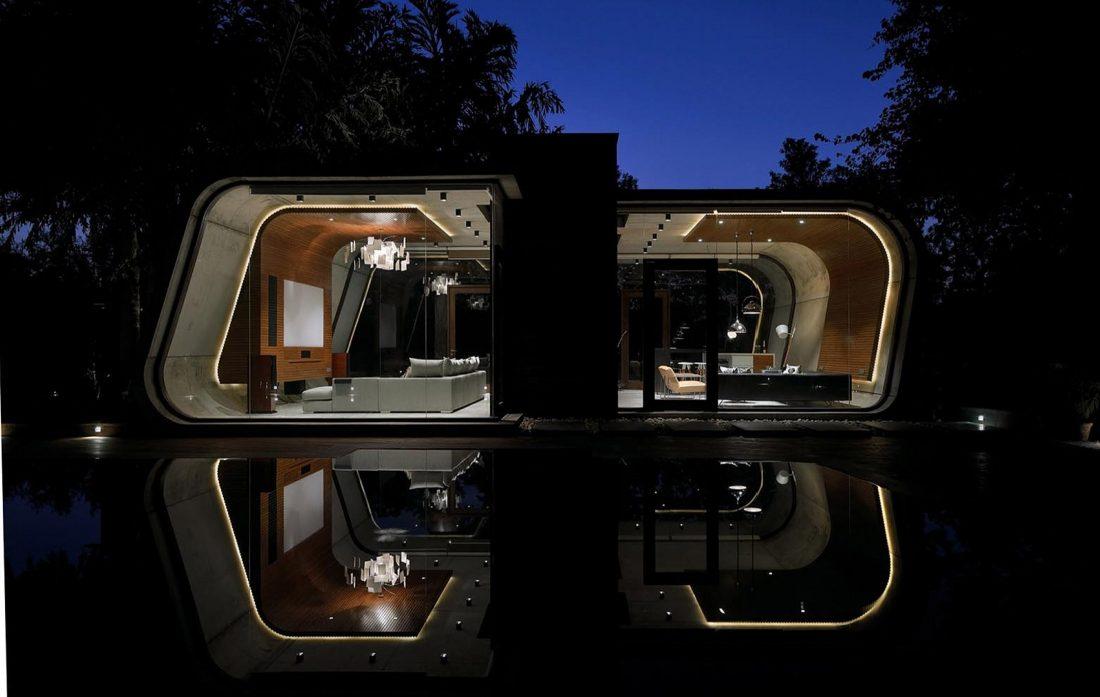 Необычный дом Pool House в Индии от студии 42mm Architecture 9