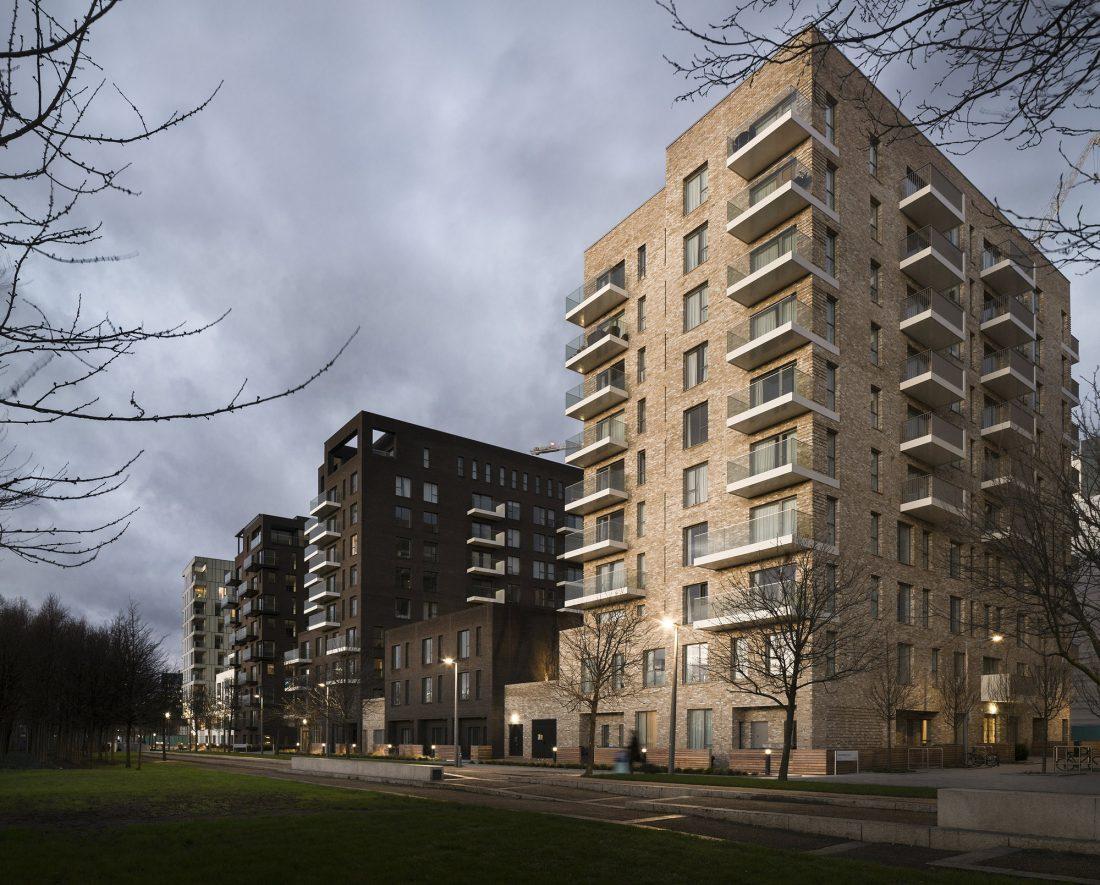 Жилой комплекс Greenwich Peninsula Riverside в Лондоне по проекту C.F. Moller 2