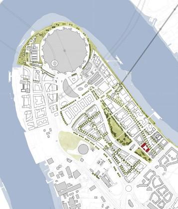 Жилой комплекс Greenwich Peninsula Riverside в Лондоне по проекту C.F. Moller  План 1
