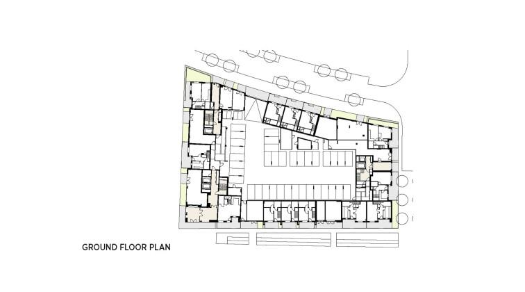 Жилой комплекс Greenwich Peninsula Riverside в Лондоне по проекту C.F. Moller  План 2
