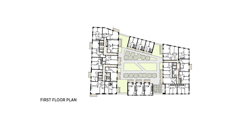 Жилой комплекс Greenwich Peninsula Riverside в Лондоне по проекту C.F. Moller  План 3