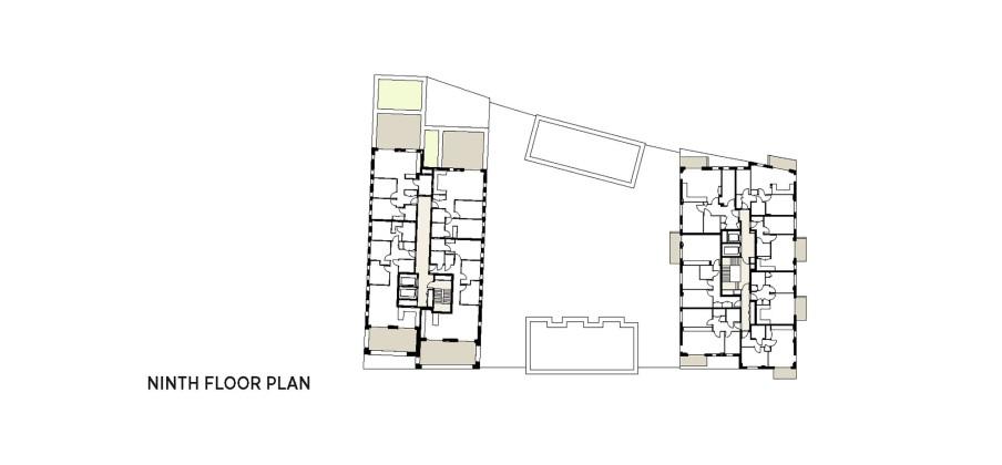 Жилой комплекс Greenwich Peninsula Riverside в Лондоне по проекту C.F. Moller План 4