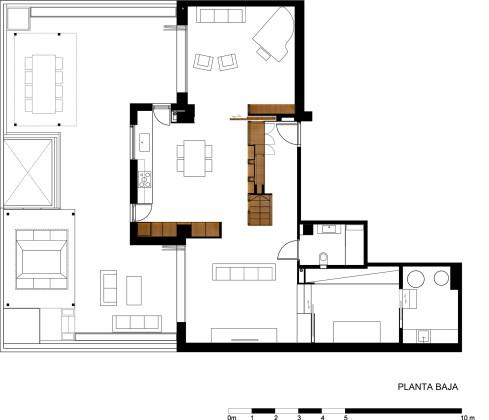 Дуплекс в Барселоне, по проекту студии Zest Architecture План 1