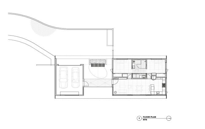 Гостевой дом в Калифорнии по проекту Schwartz and Architecture План 1