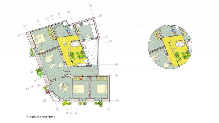 Реконструкция старинного дома в Мадриде План 6