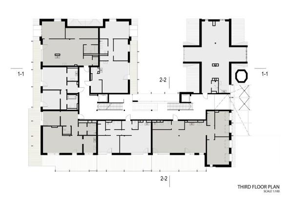 Жилой дом Erg 6 из старого санатория в Юрмале План 3
