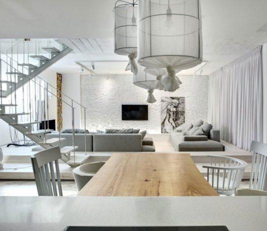 Квартира в Киеве в белых тонах по проекту FORM Architectural Bureau