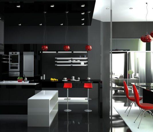 Кухня в стиле хайтек зонирование пространства