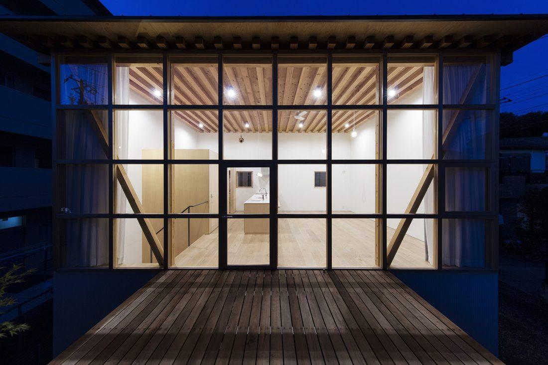 Дом в Токио по системе Shakkanho по проекту Tetsuo Yamaji 10