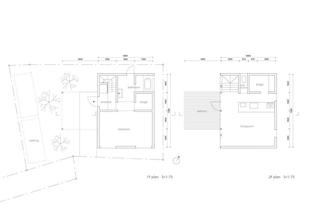 Дом в Токио по системе Shakkanho по проекту Tetsuo Yamaji 20