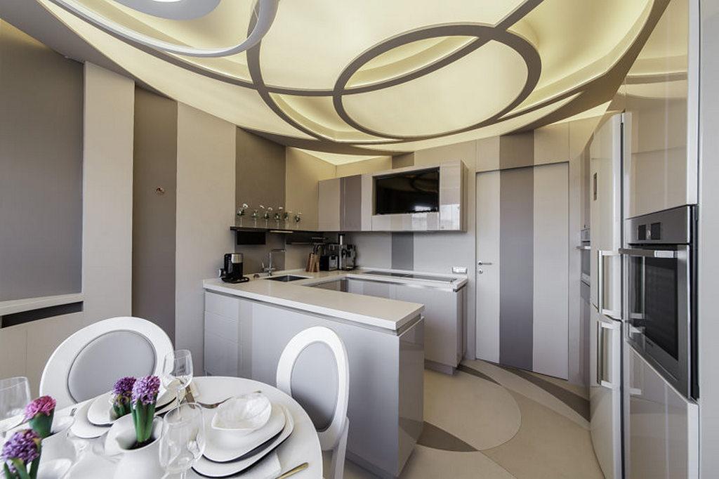 Объединение кухни с балконом, фотографии реальных интерьеров 1