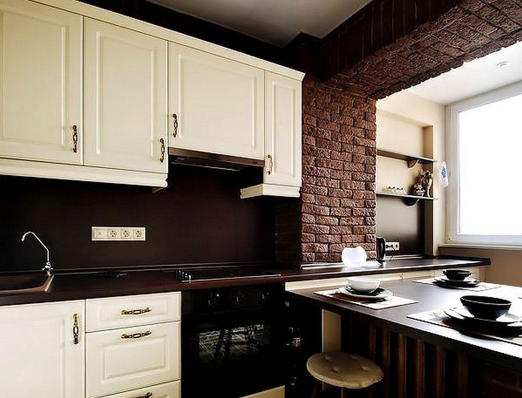 Объединение кухни с балконом, фотографии реальных интерьеров 17