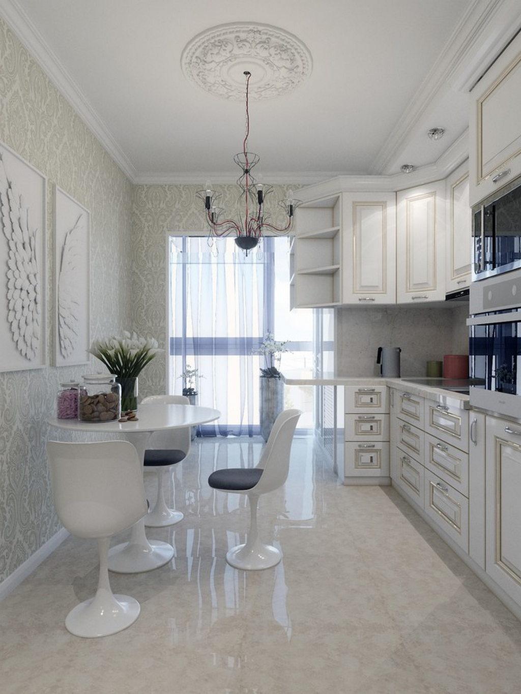 Объединение кухни с балконом, фотографии реальных интерьеров 22