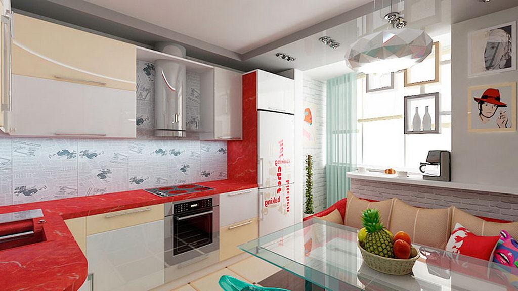 Кухни соединенные с балконом дизайн.