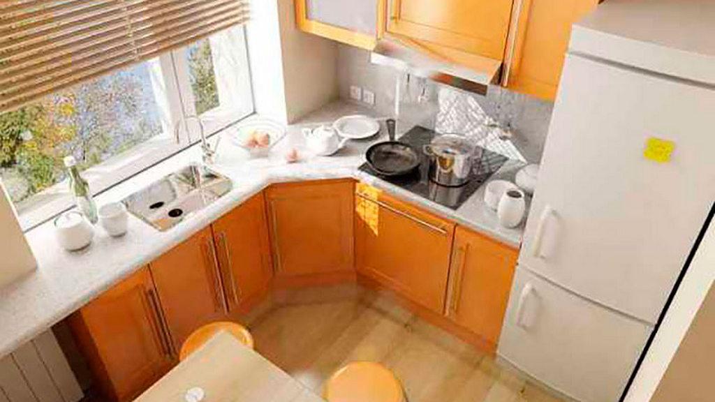 Объединение кухни с балконом, фотографии реальных интерьеров 28