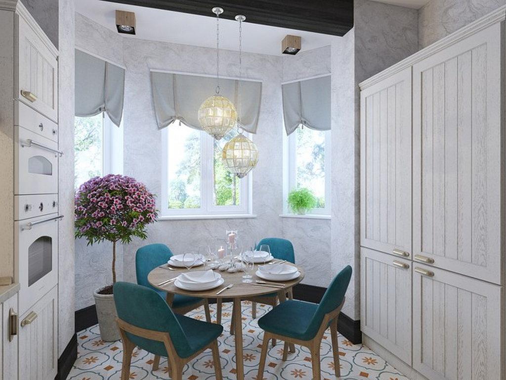 Объединение кухни с балконом, фотографии реальных интерьеров 8