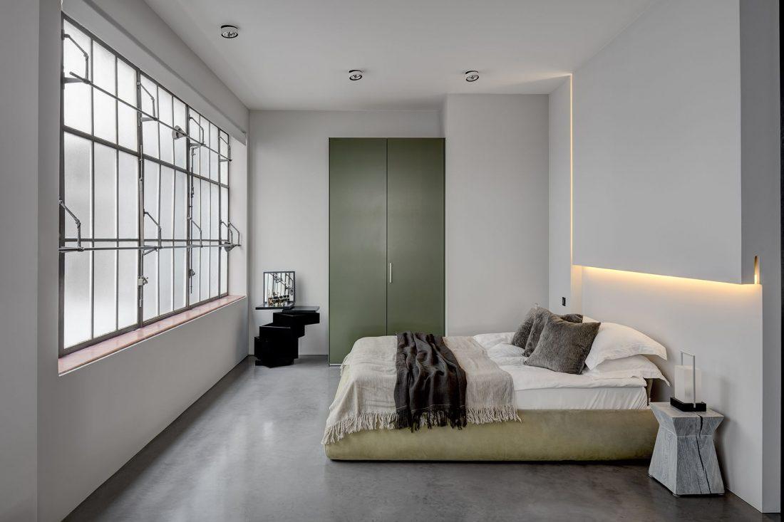 Стиль минимализм в интерьере спальни-5