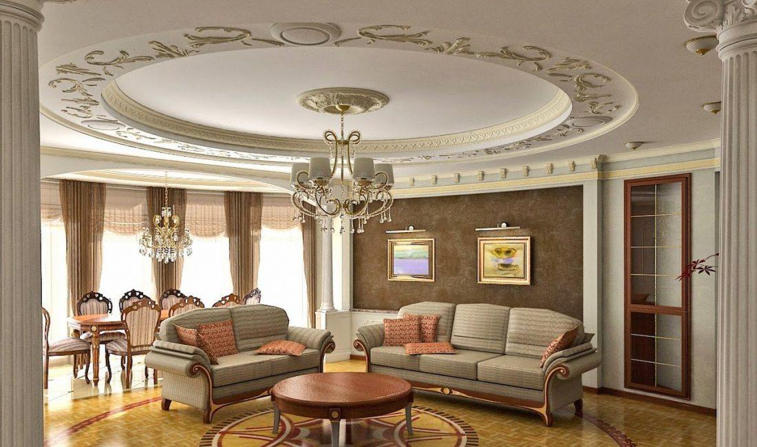 gostinaya-v-klassicheskom-stile-parket-s-mozaikoj-i-kolonny-s-lepninoj
