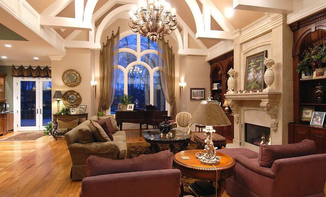 Шикарная гостиная в стиле модерн
