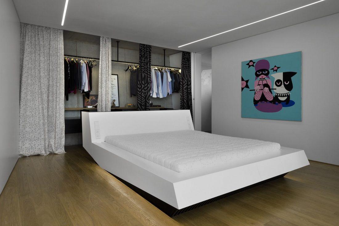 Стиль минимализм в интерьере спальни-23