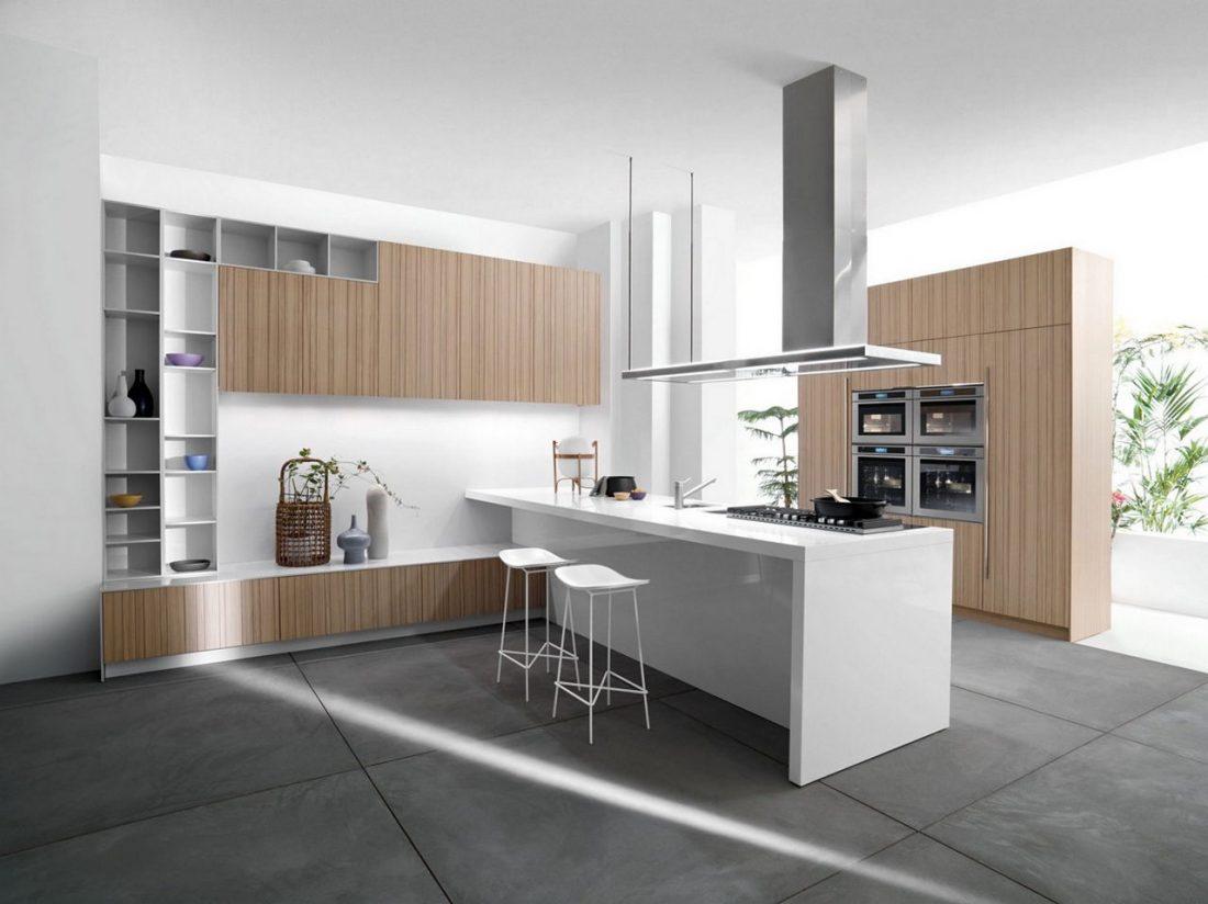 Стиль минимализм в интерьере кухни-5