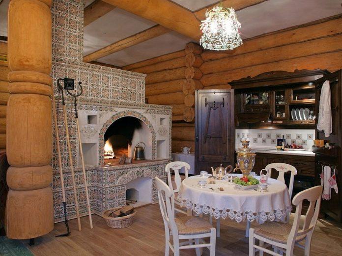 Дизайн дома с печкой в деревне фото 54