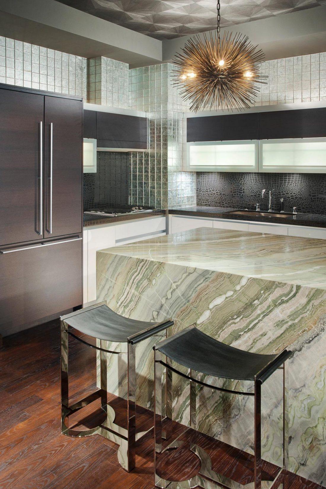 Арт деко стиль в интерьере кухни 3