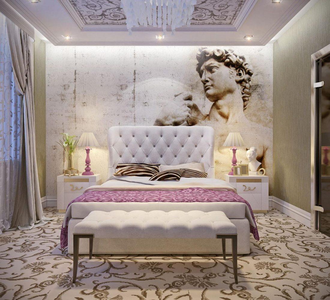 Арт деко стиль в интерьере спальни 11