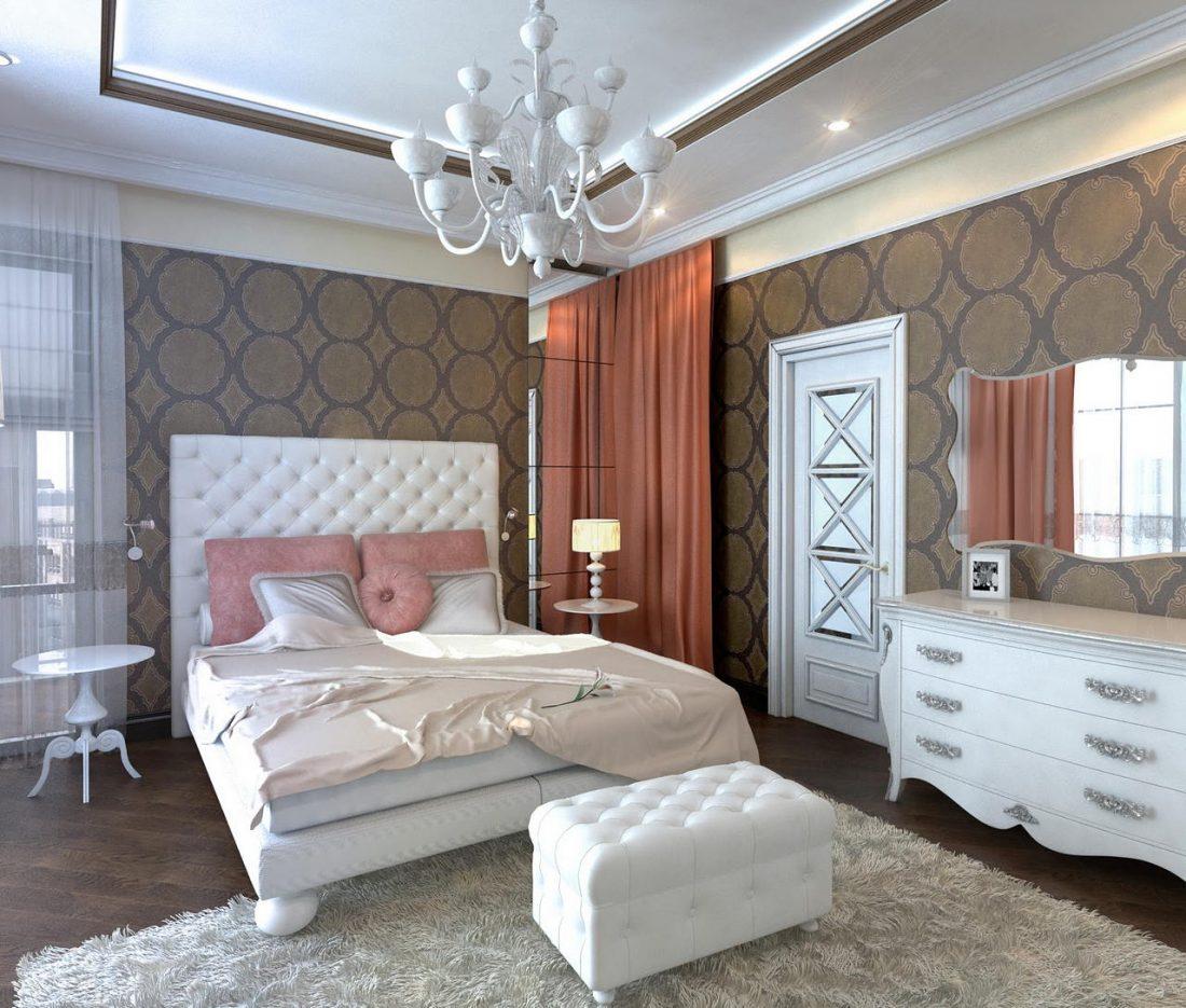 Арт деко стиль в интерьере спальни 12