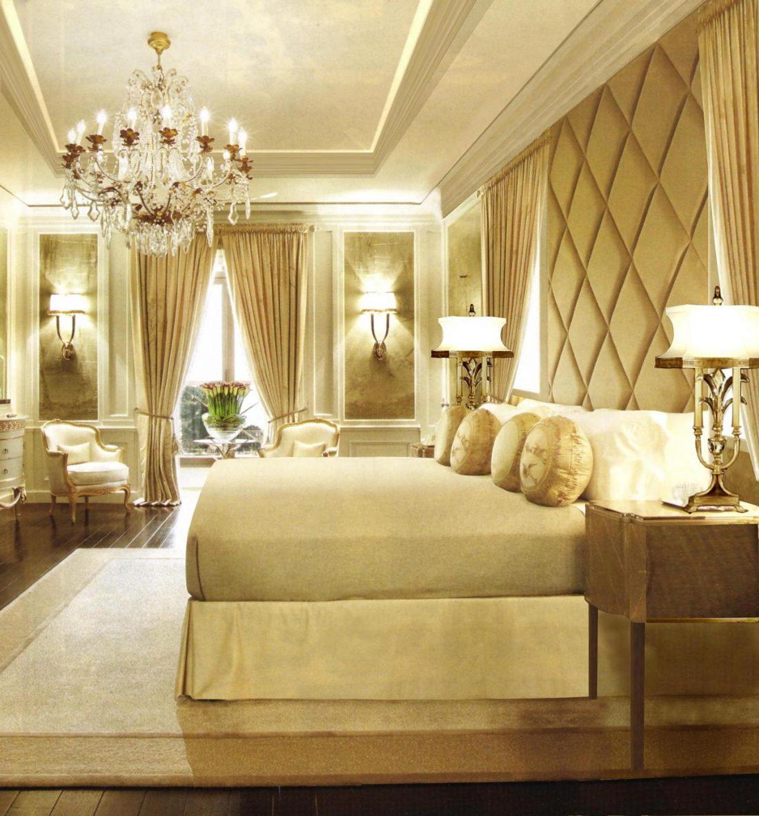 Арт деко стиль в интерьере спальни 13
