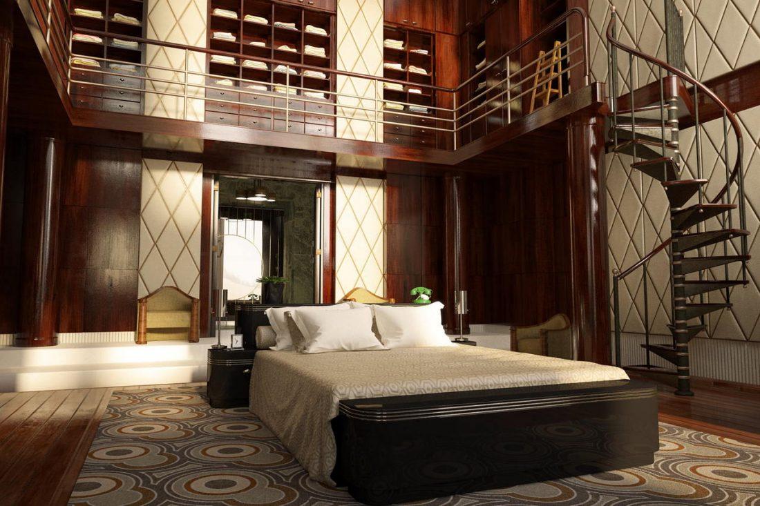 Арт деко стиль в интерьере спальни 4