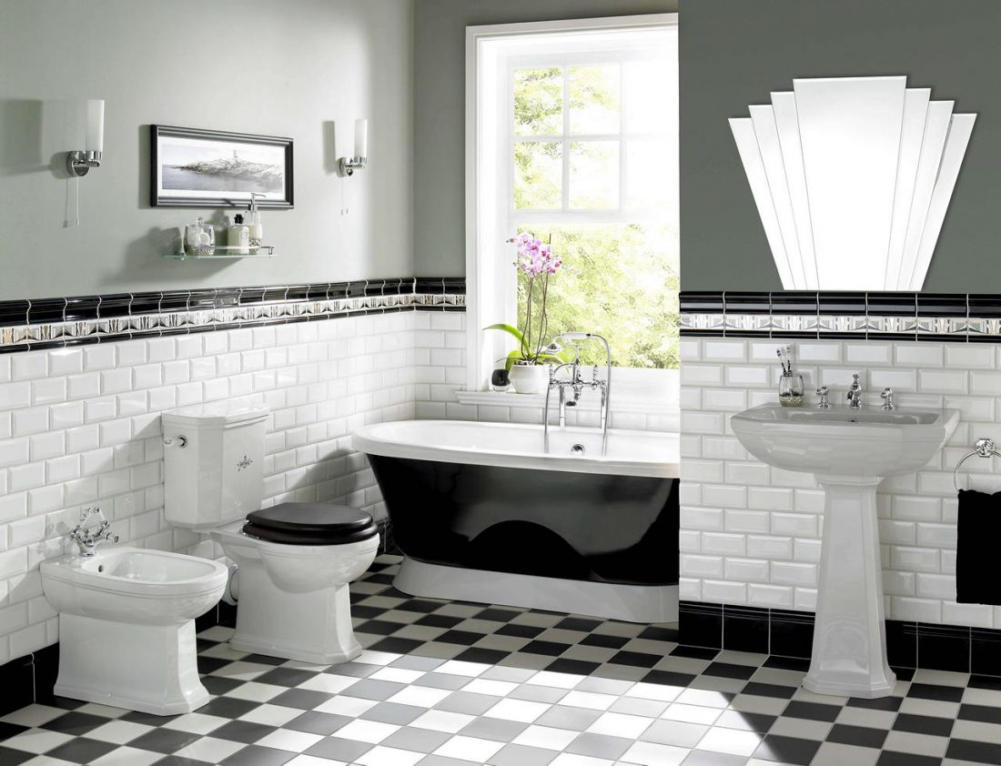 Арт деко стиль в интерьере ванной комнаты 1