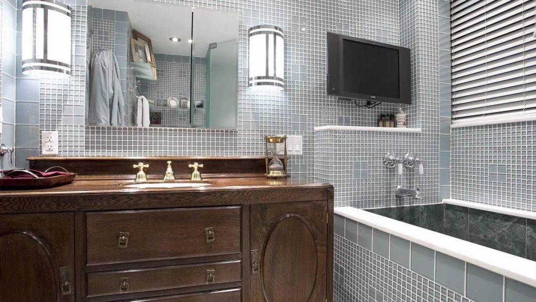 Арт деко стиль в интерьере ванной комнаты 2