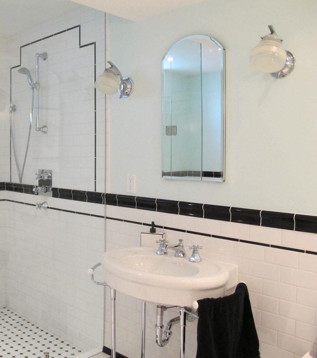 Арт деко стиль в интерьере ванной комнаты 3